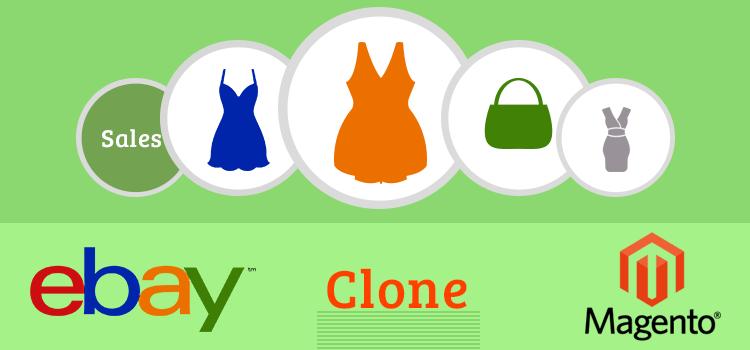 eBay clone using Magento modules