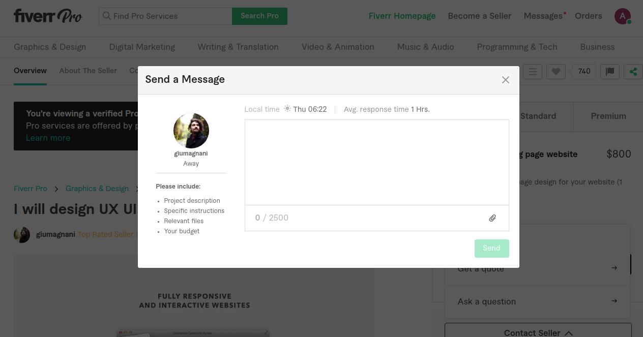 Fiverr-Contact Seller