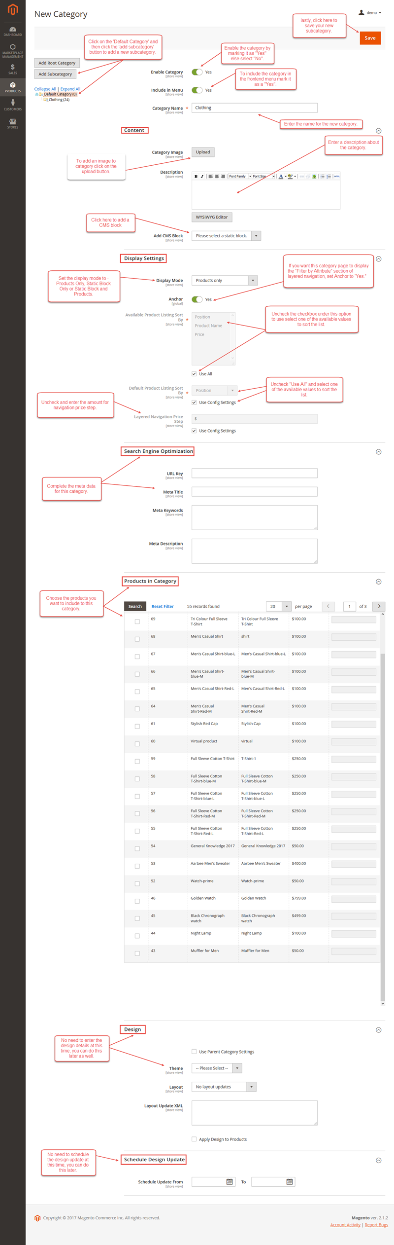 How to Create Categories in Magento2?
