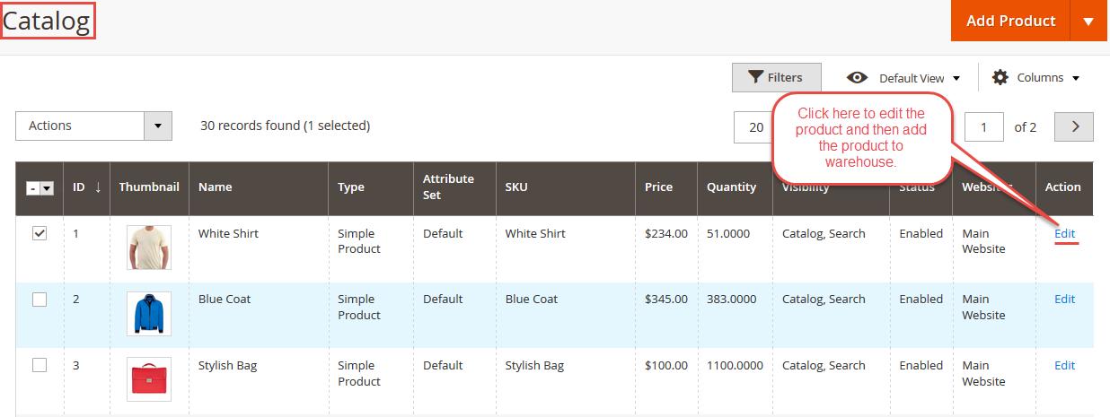Magento 2 dropship catalog