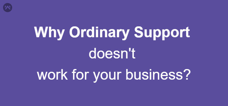 Why Ordinary Support doesn't work for your business?