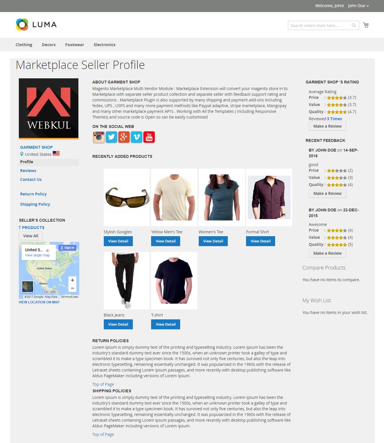 magento-seller profile
