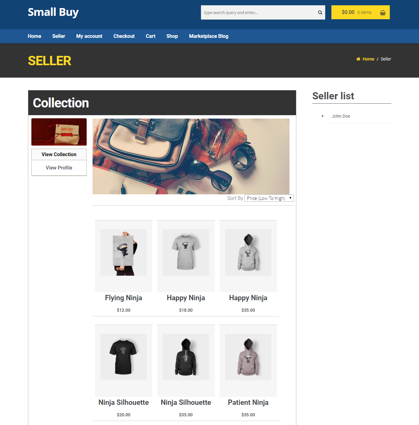 woocommerce-seller collection