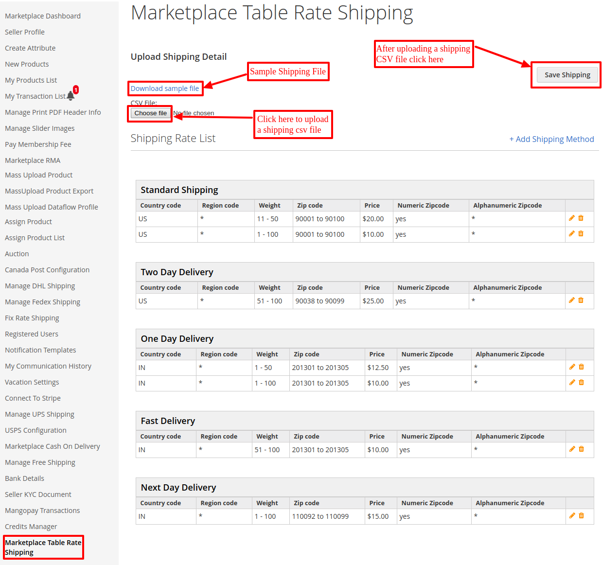 Add Shipping Rule | Magento2 Marketplace Table Rate Shipping