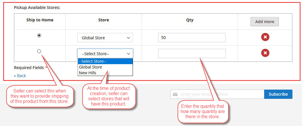 Magento 2 Store Pickup Marketplace Add-On