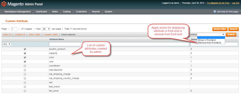 magento marketplace custom attribute