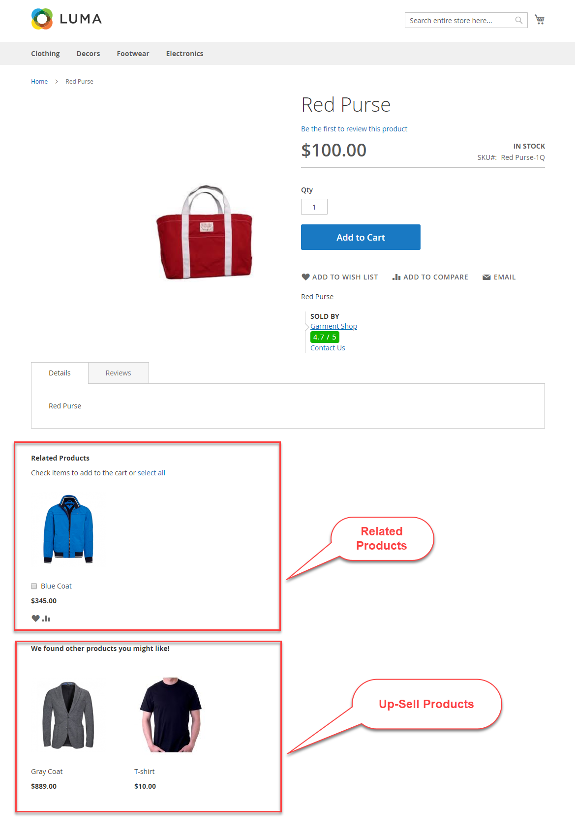 sellers add related products