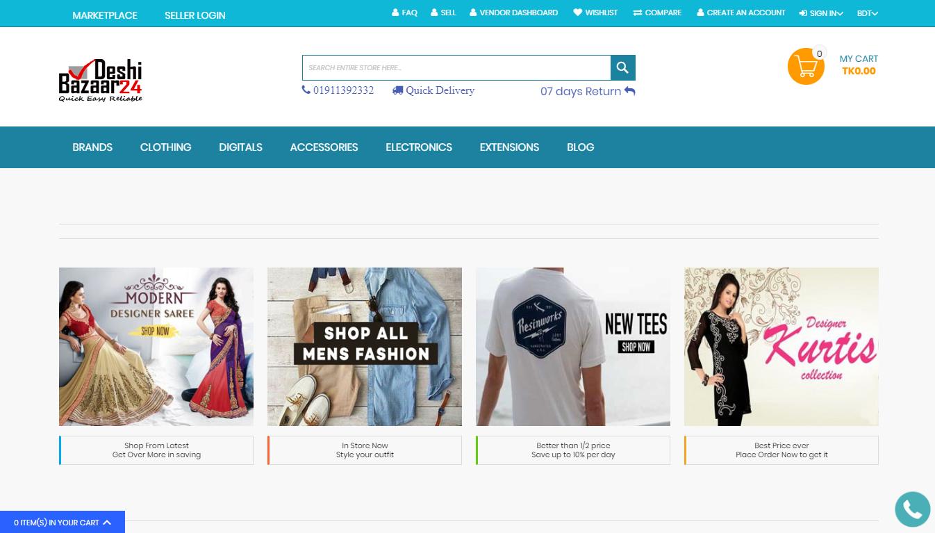 webkul-deshibazaar24-homepage