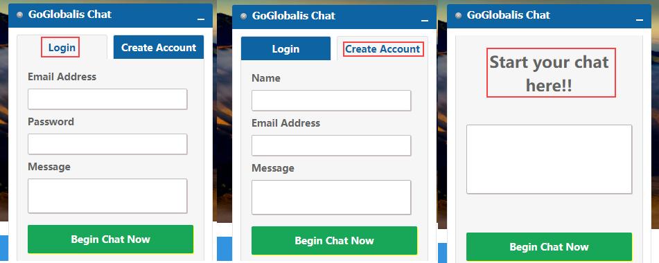 chat login