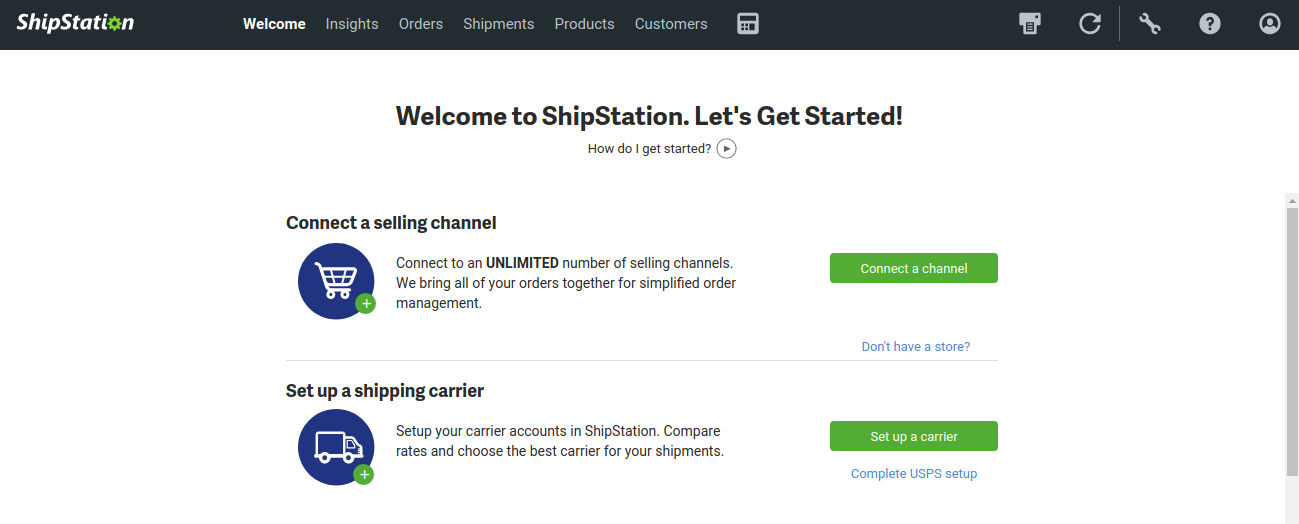 Get Started ShipStation