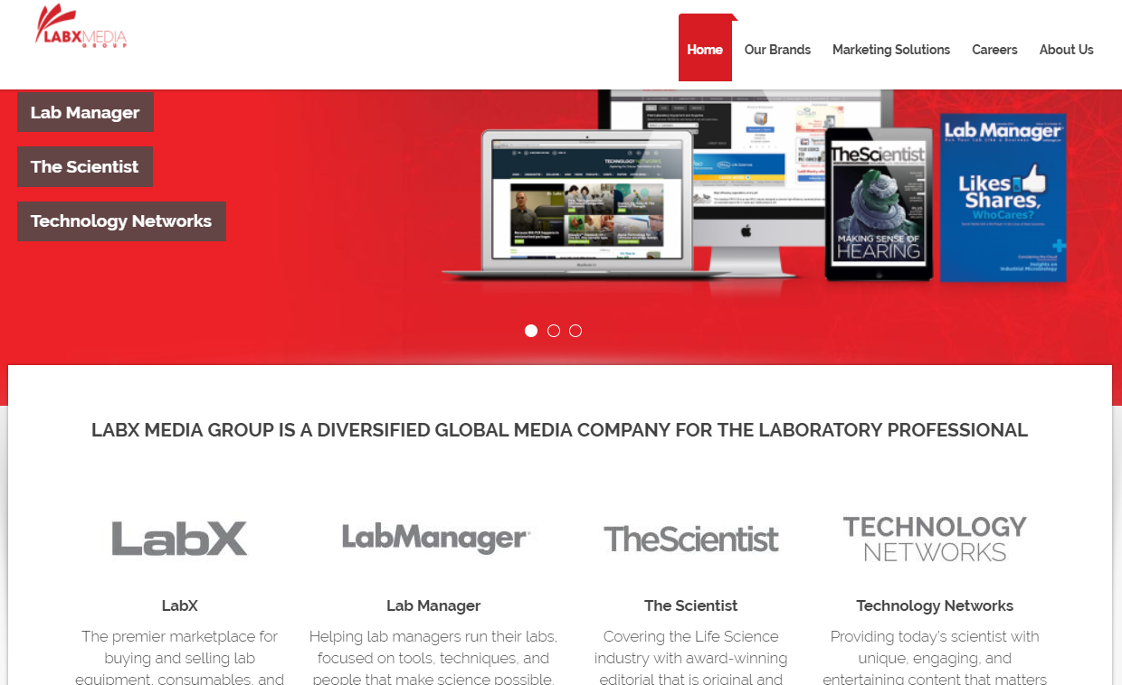 labx media group homepage