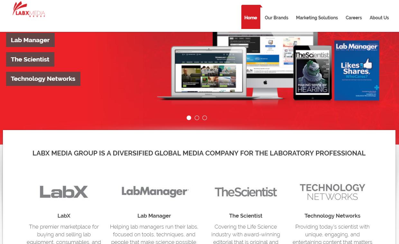 labx media group homepage