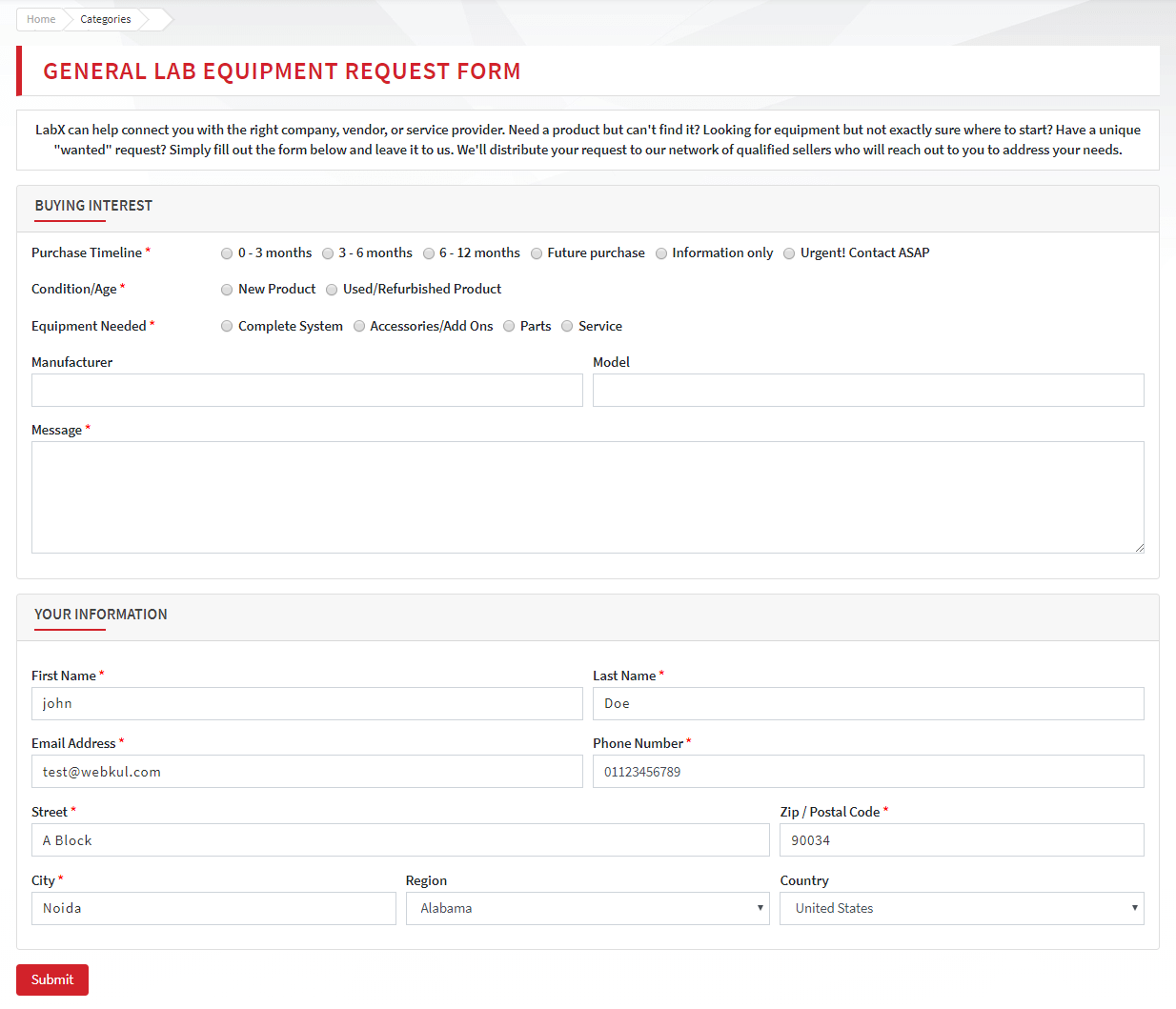 labx-request-for-quote-product