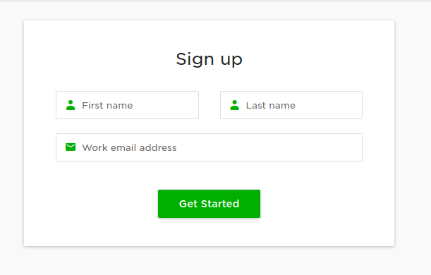 Upwork Sign up page
