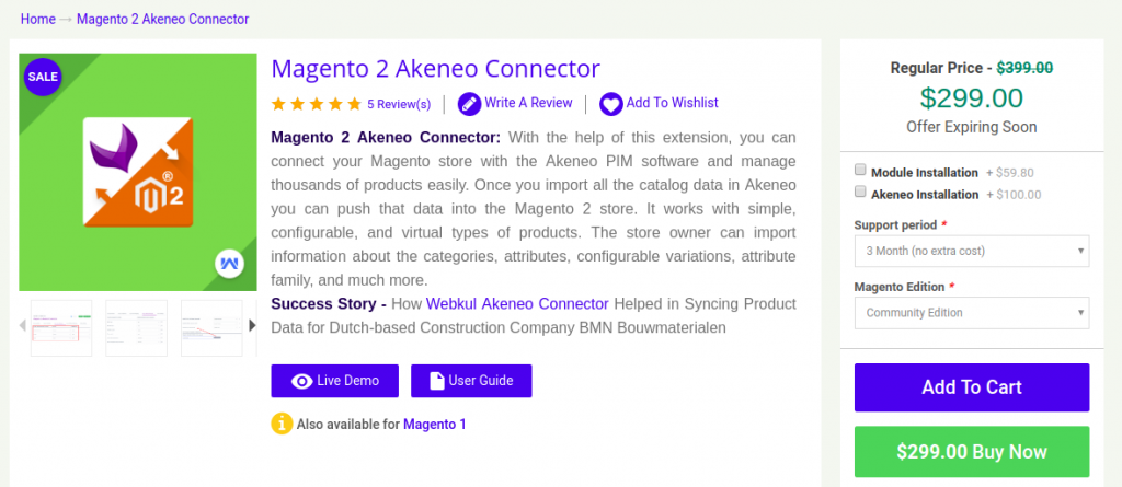Magento2 Akeneo Connector