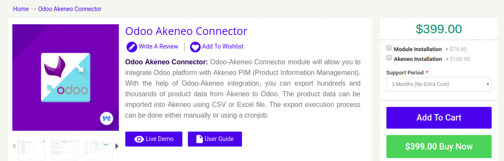 Webkul Odoo Connector