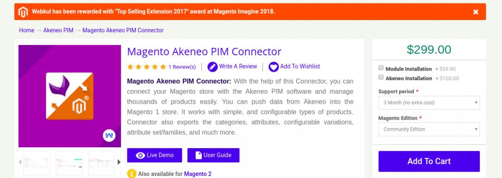 Magento Akeneo connector