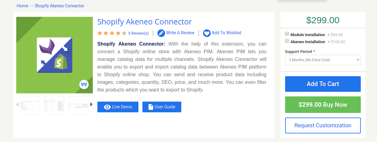 Shopify Akeneo Connector