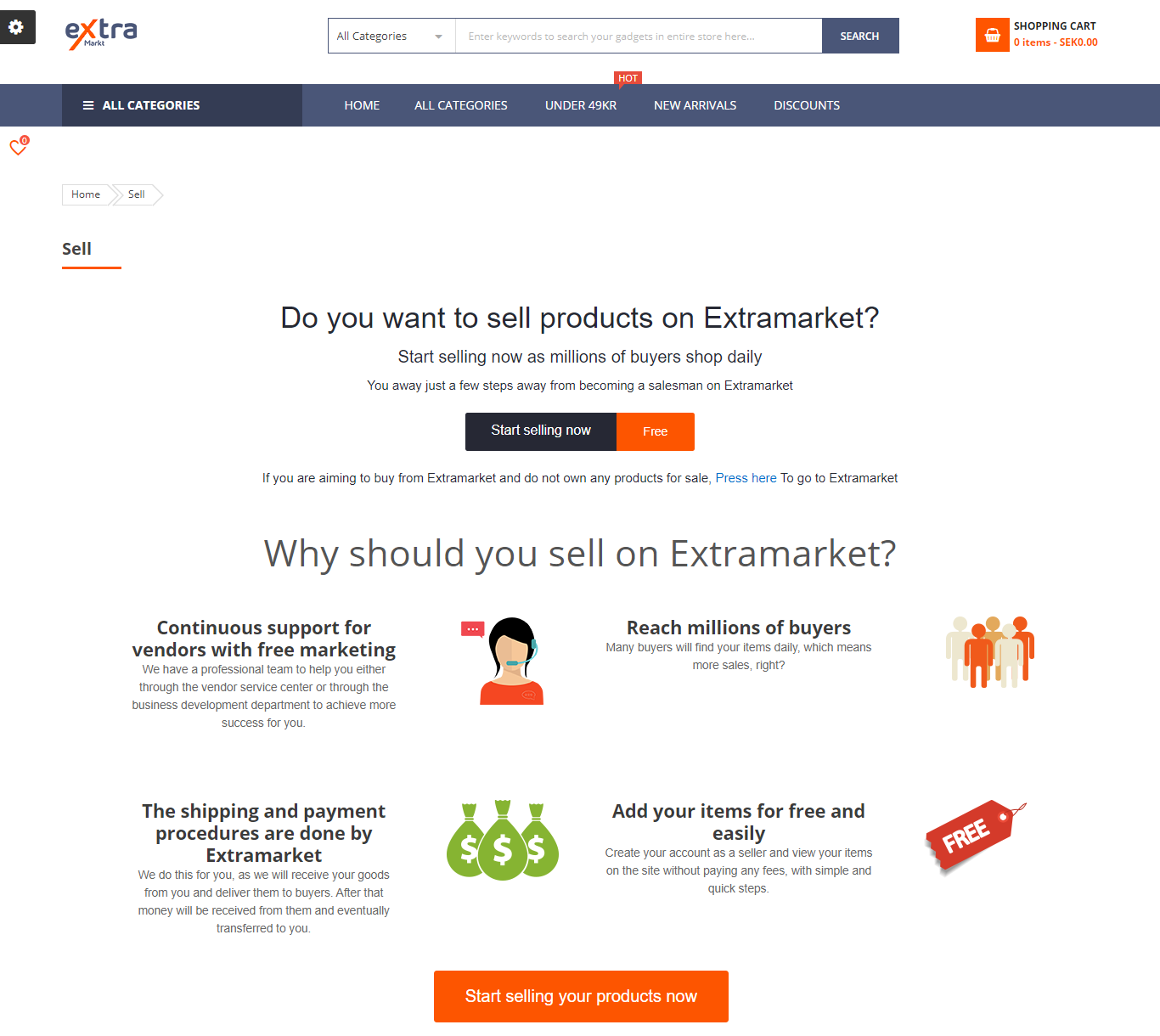 extramarkt-marketplace-sell-page