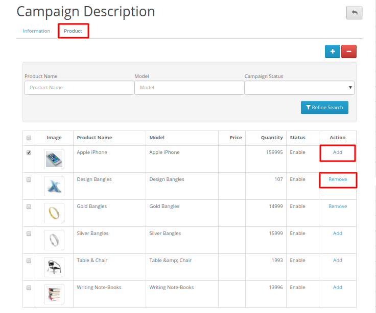 add seller products to the joined campaign