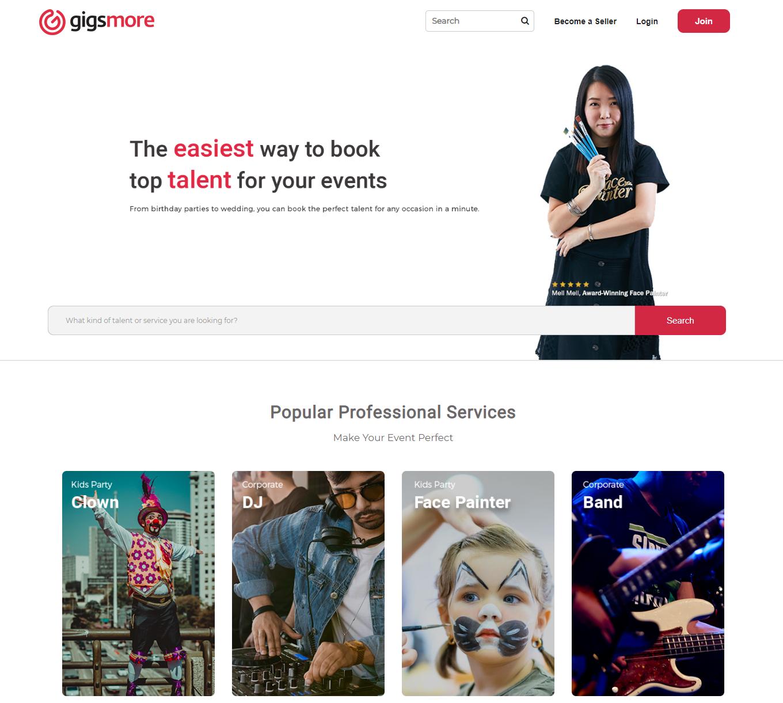 gigsmore-home-page