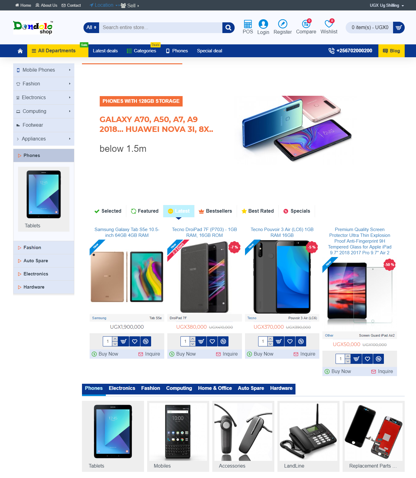 dondolo uganda ecommerce website