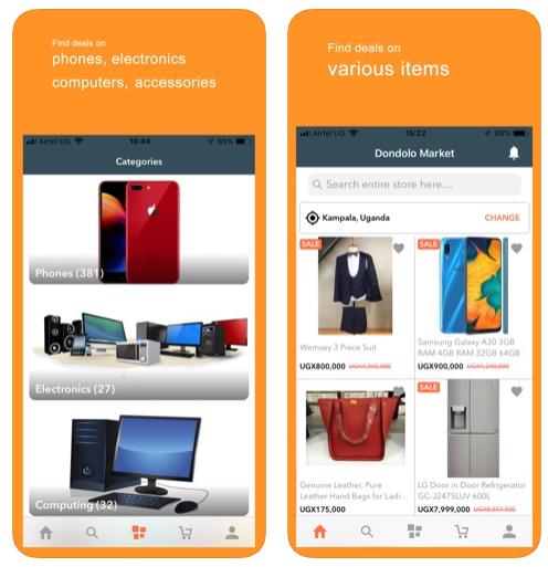 Dondolo Uganda Ecommerce Mobile App