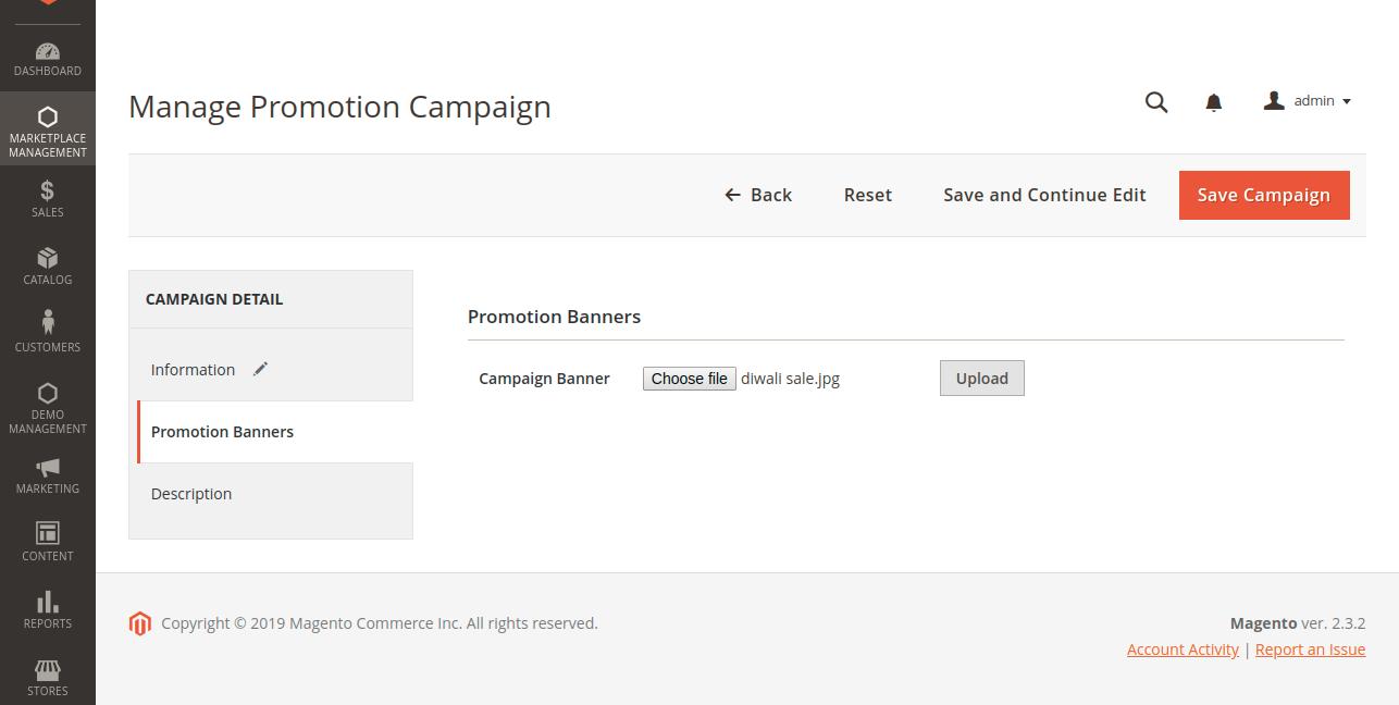 upload campaign banner