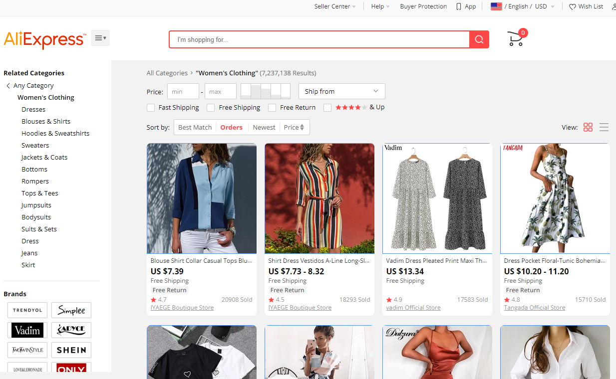 aliexpress-women-clothing-categories