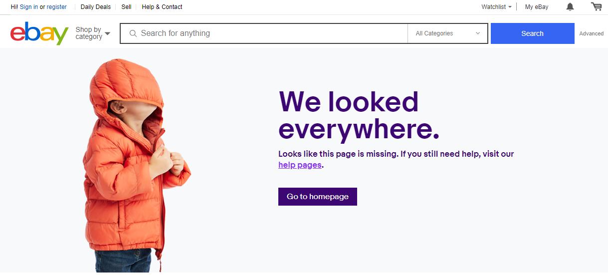 ebay 404