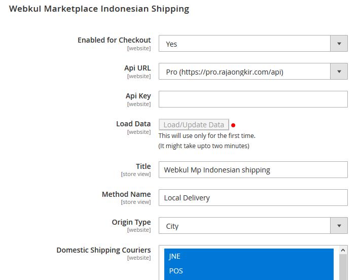 webkul Marketplace Indonesian Shipping