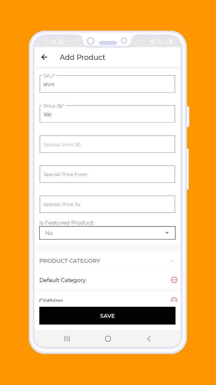 Magento 2 B2B Vendor Mobile App add products-2