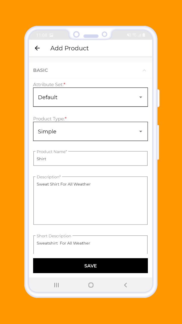 Magento 2 B2B Vendor Mobile App add products 1