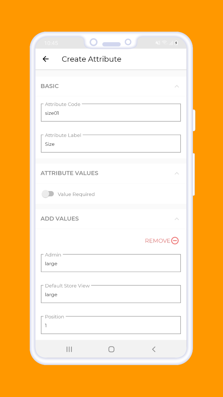 Magento 2 B2B Vendor Mobile App xreate attribute 1