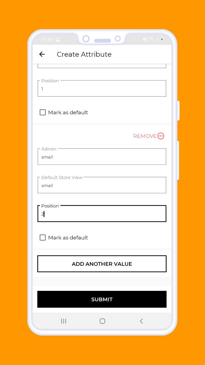 Magento 2 B2B Vendor Mobile App create attribute