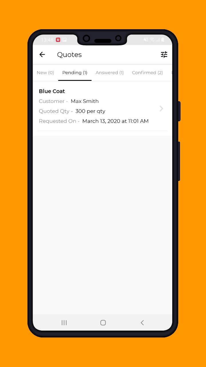 Magento 2 B2B Vendor Mobile App pending quote