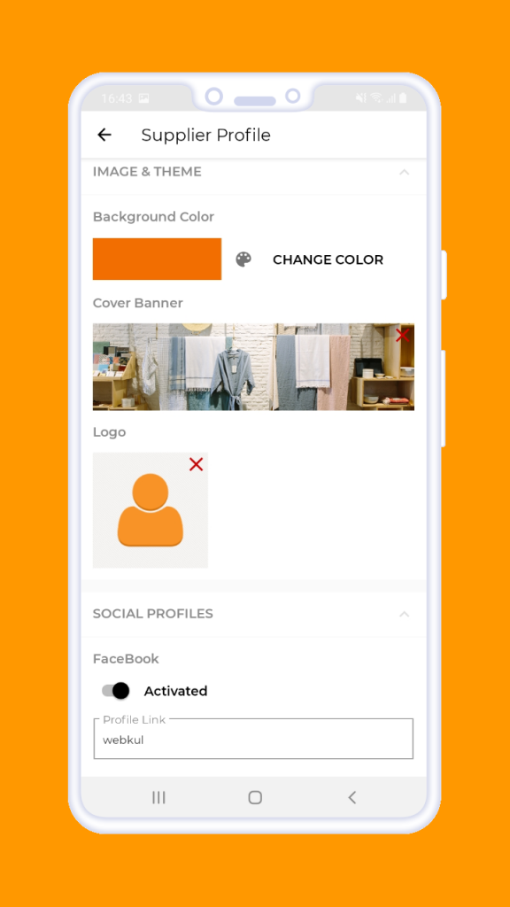 Magento 2 B2B Vendor Mobile App supplier profile